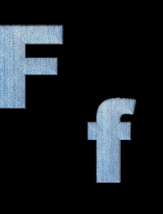 Fabric, 3d, Denim, Alphabet, Letter F, Font, Text, Type