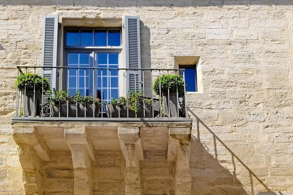 Home, House, Stone, Facade, Balcony, Ancient