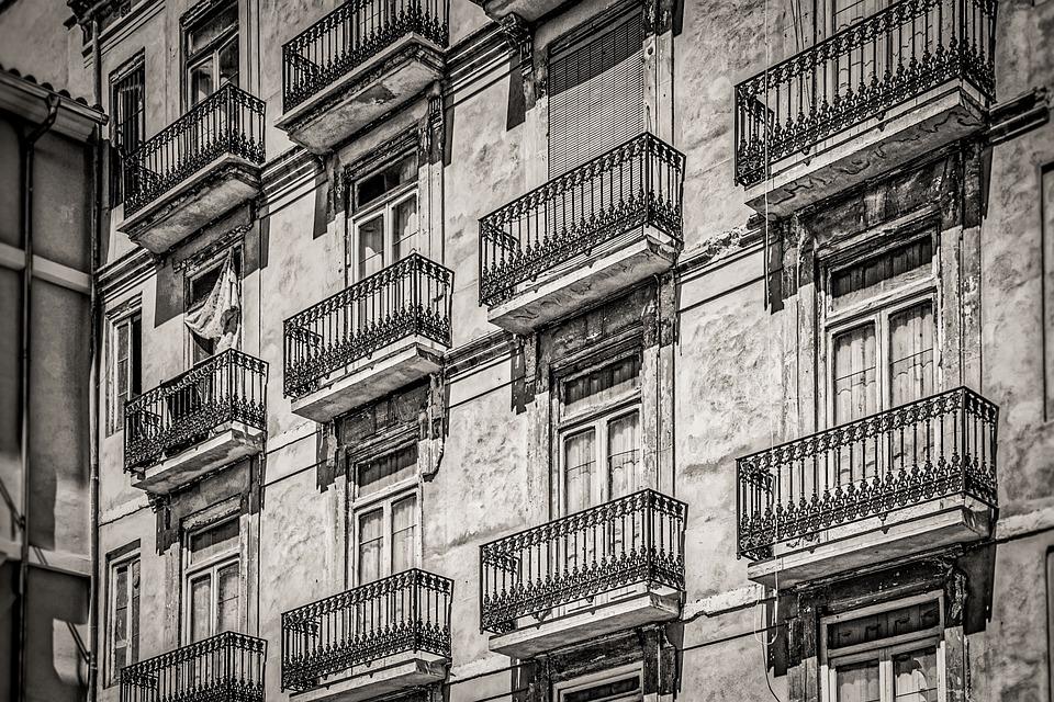 Facade, House, Monochrome, Architecture, Street