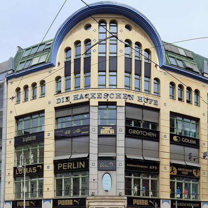 Hackesche Höfe, Berlin, Facade, Building, Historically