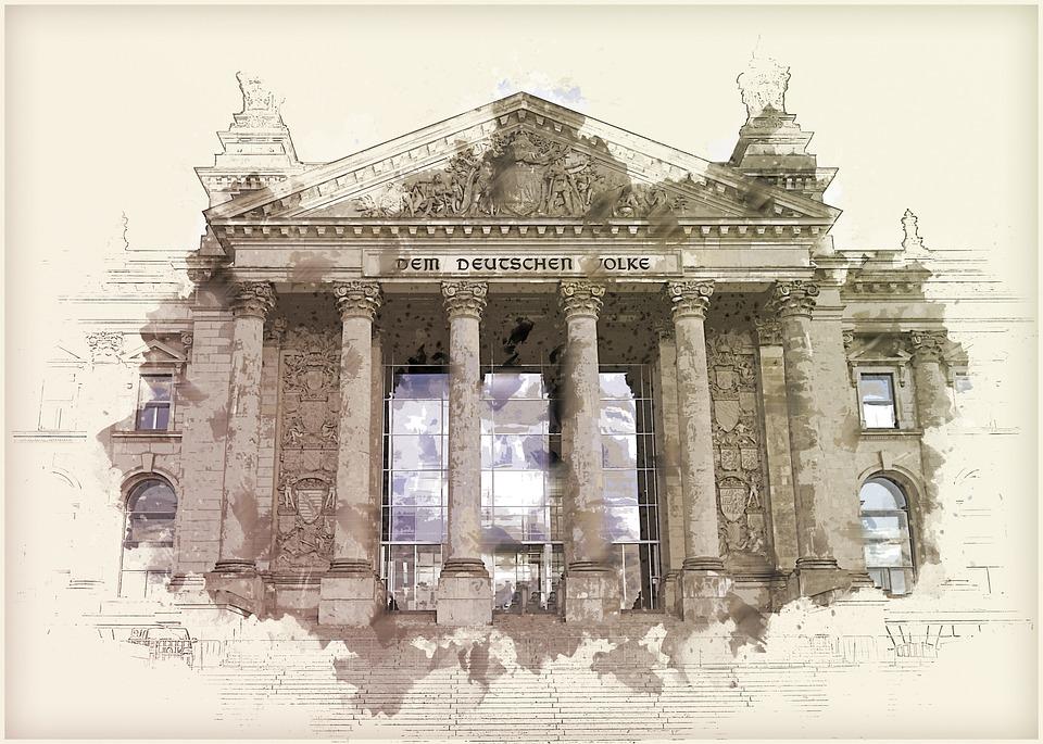 Architecture, Berlin, Building, Columns, Facade