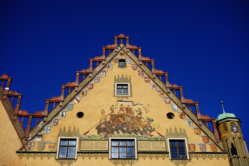 House, Building, Town Hall, Ulm, Facade, Yellow