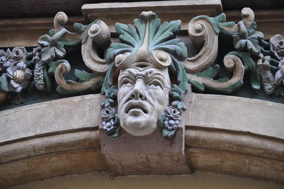 Timişoara, Statue, Fig, Face, Ornament, Facade
