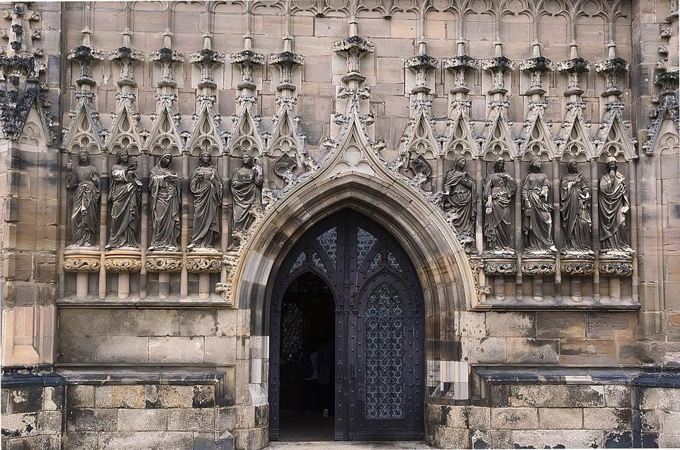 Historically, Figures, Church, Ornament, Facade