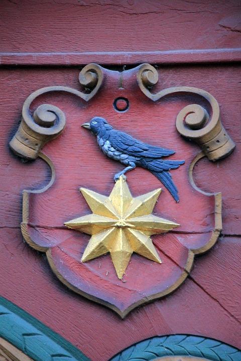 Truss, Fachwerkhaus, Red, Facade Figurine, Animal, Bird