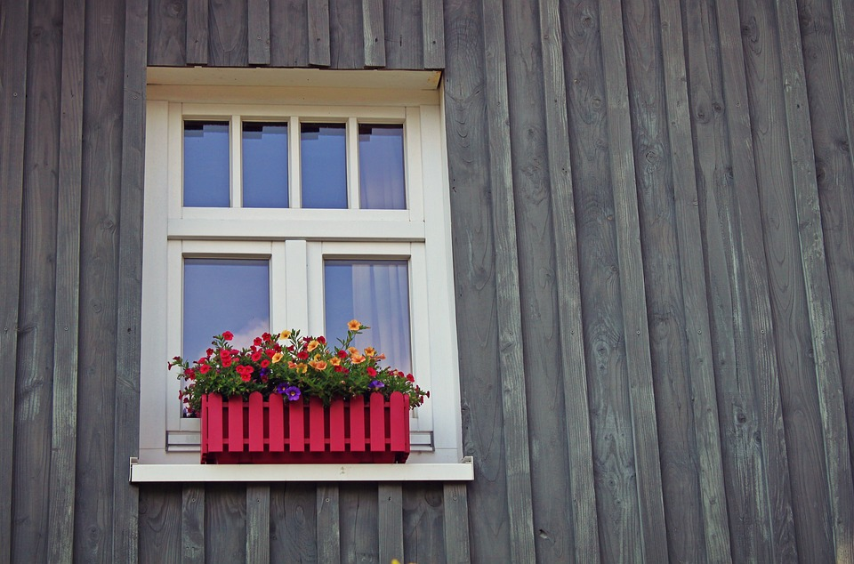 free photo facade flower box window home lattice windows max pixel