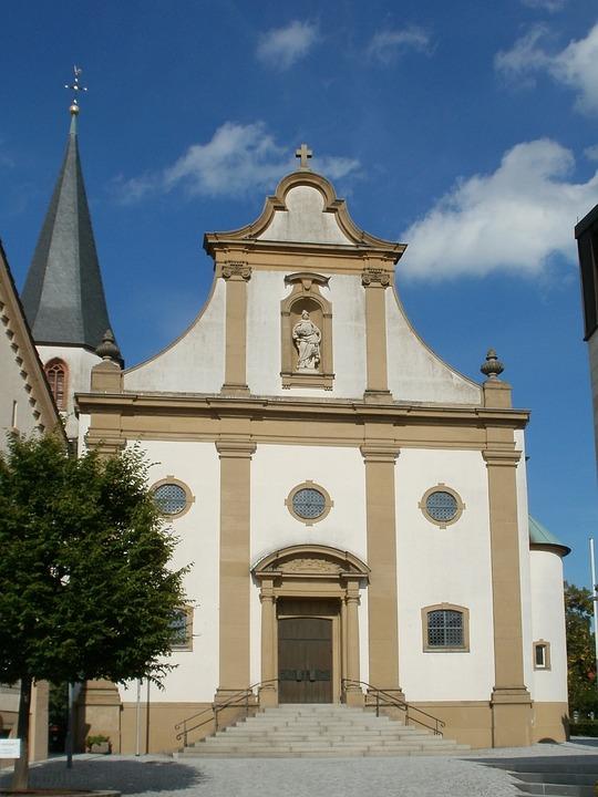 Church, Front, St Juliana, Facade, Malsch, Architecture