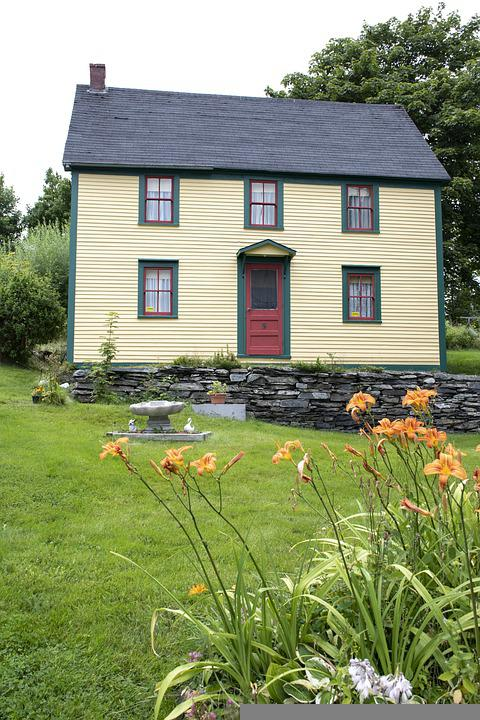 House, Windows, Roof, Facade, Saltbox, Newfoundland
