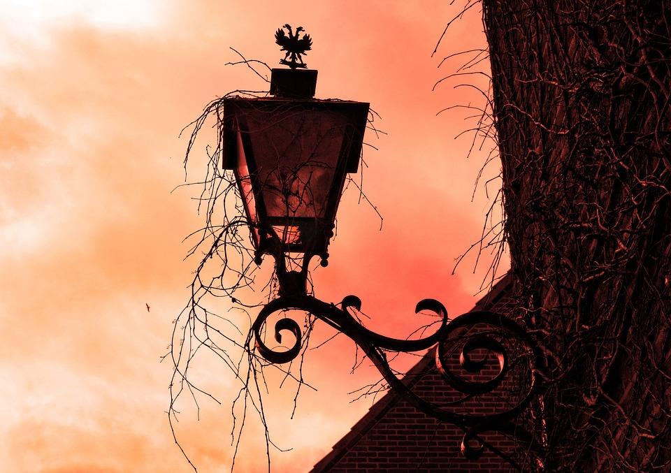 Facade Lantern, Wall Lamp, Vintage Lantern