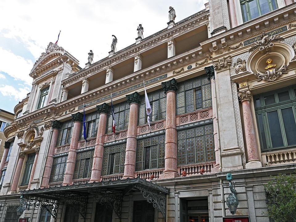 Nice, Opera House, Facade, Main Entrance, North Side