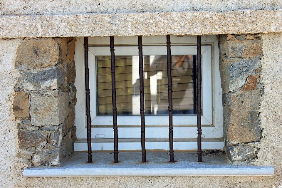 Window, Old, House, Facade, Bars, Wall