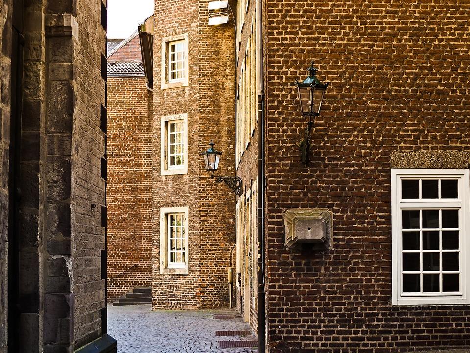 Old Town, Alley, Homes, Narrow Lane, Facade, Mood