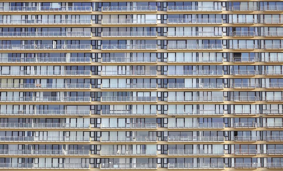 Facade, Oostende, Prefab, Architecture, Skyscraper