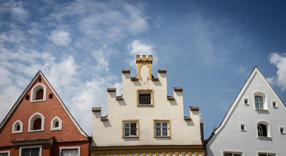 Facade, Gable, Stairs, Crow Stepped Gable, Window, Sky