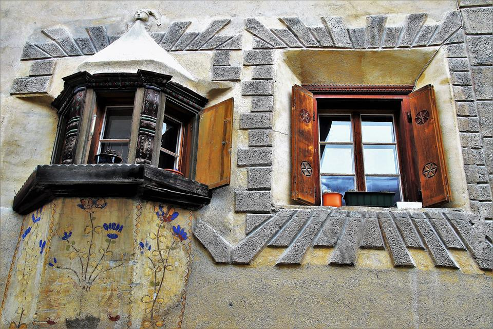 Architecture, Building, House, Old, Window, Facade