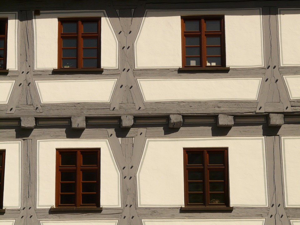 Fachwerkhaus, Window, Truss, Facade, Bar, Building