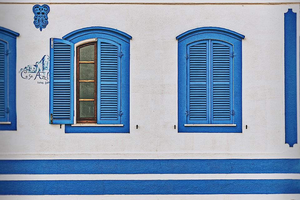 Shades, Architecture, House, Window, Building, Facade