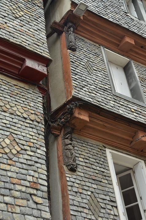 Facade, Window, Lei, Slate, Decoration, Grey, Morlaix