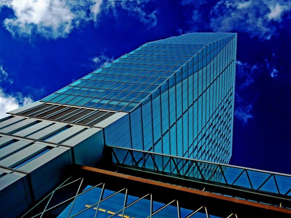 Skyscraper, Glass, Facades, Offices, Architecture