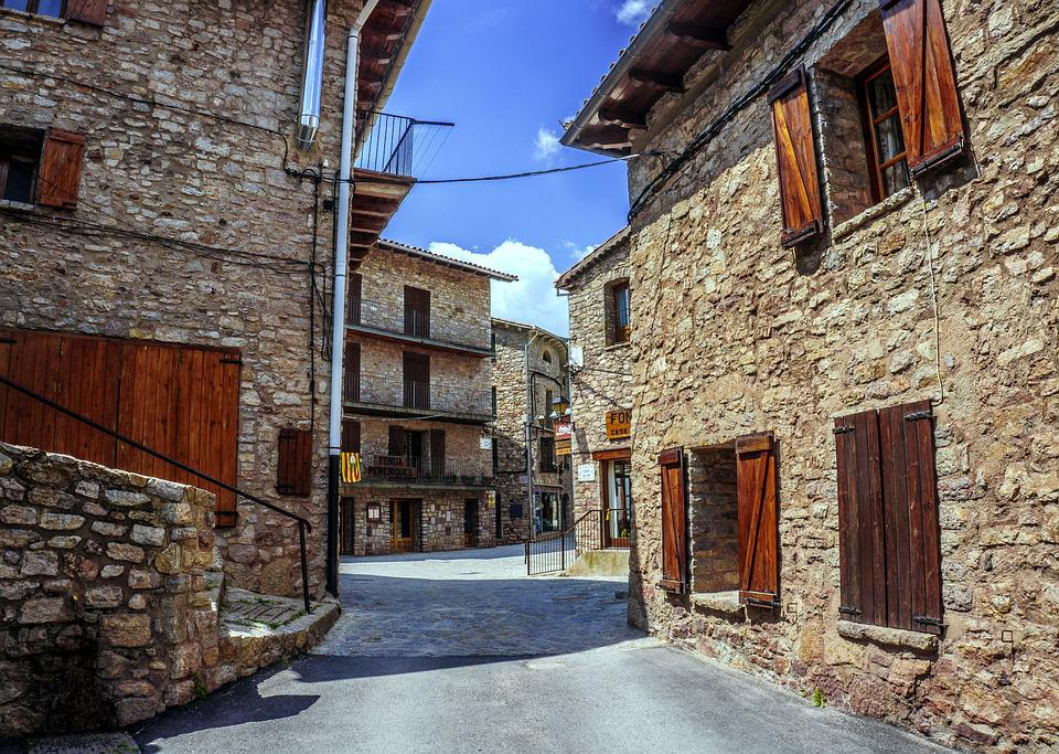 Streets, People, Houses, Facades, Old, Summer