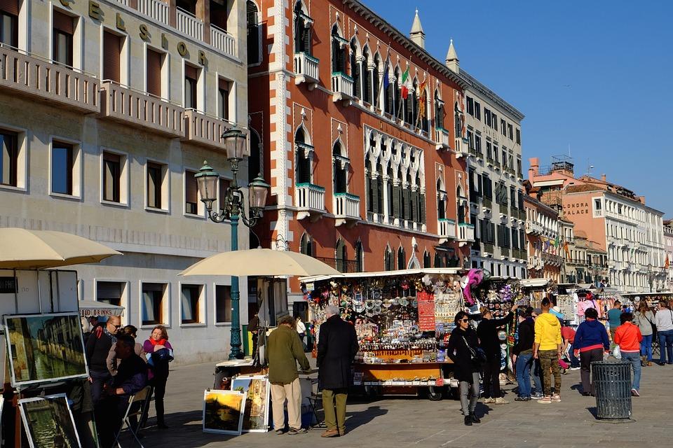 Italy, Venice, Facades