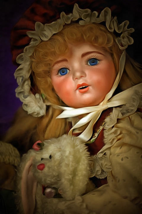 Doll, German, Antique, Bunny, Female, Girl, Face, Hair