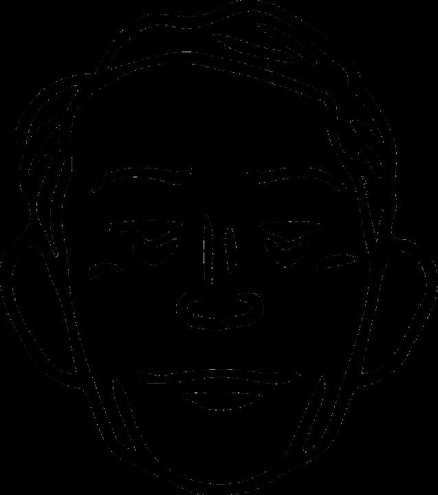 Man, Head, Face, Black And White, Portrait, Sketch
