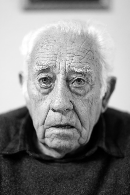 Face, Portrait, Elder, Old, Wrinkles, Black And White