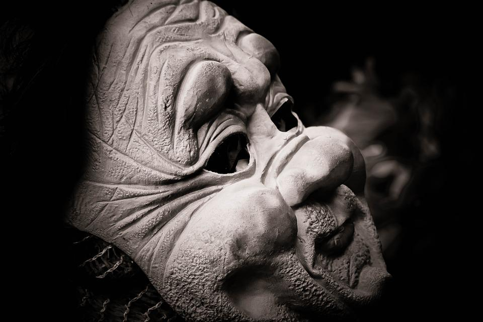Mask, Fear, Carnival, Horror, Face, Portrait, Black