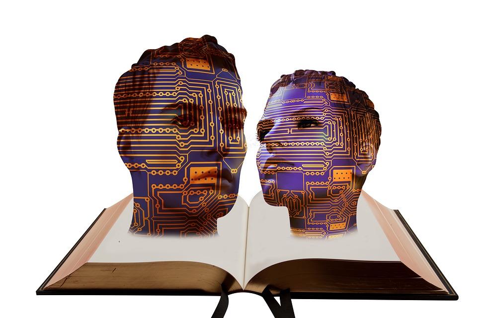 Board, Digitization, Head, Face, Book, Literature
