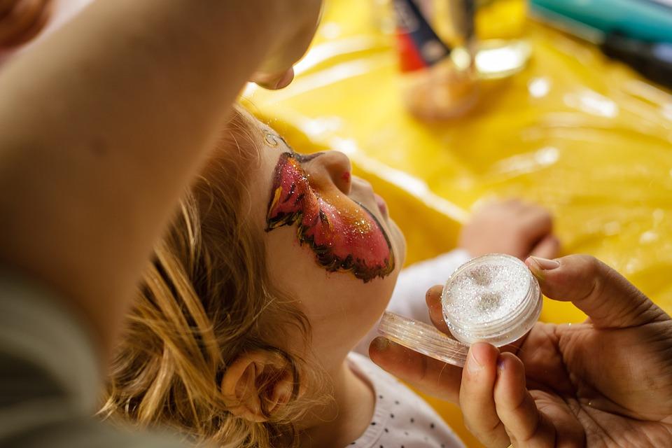 Face Painting, Child, Make Up, Face, Fun, Joy
