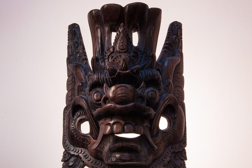 Mask, Face Cover, Religious, Ritual, Defense