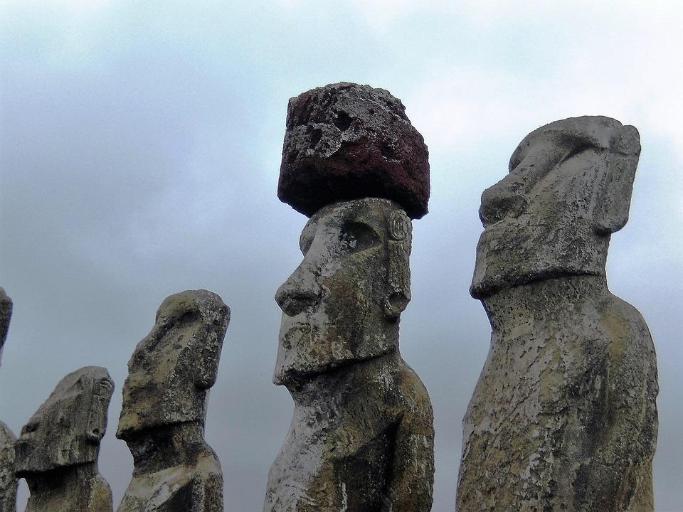 Easter Island, Head, Faces, Stone, Chile, Face