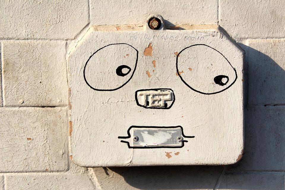 Power Box, Face, Funny, Graffiti