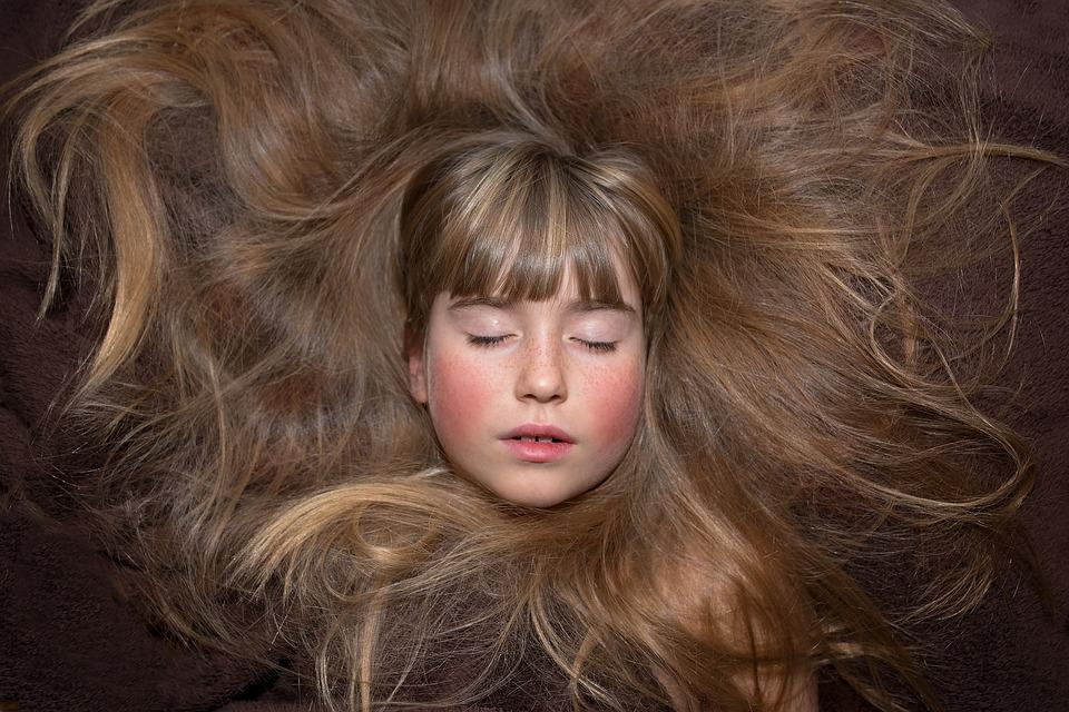 Person, Human, Female, Girl, Face, Hair, Eyes Closed
