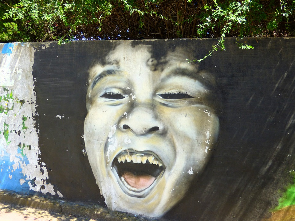 Graffiti, Art, Painting, Mural, Face, Child