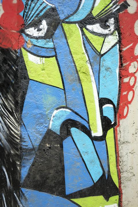 Street Art, Graffiti, Sofia, Bulgaria, Face