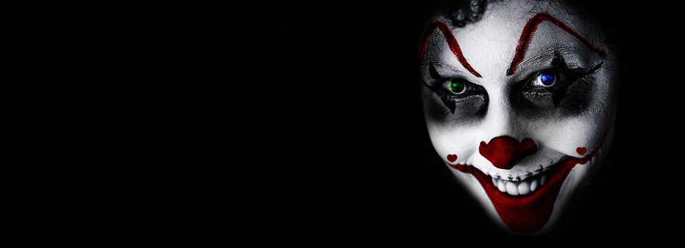 Halloween, Clown, Creepy, Face, Horror, Fear, It, Grin