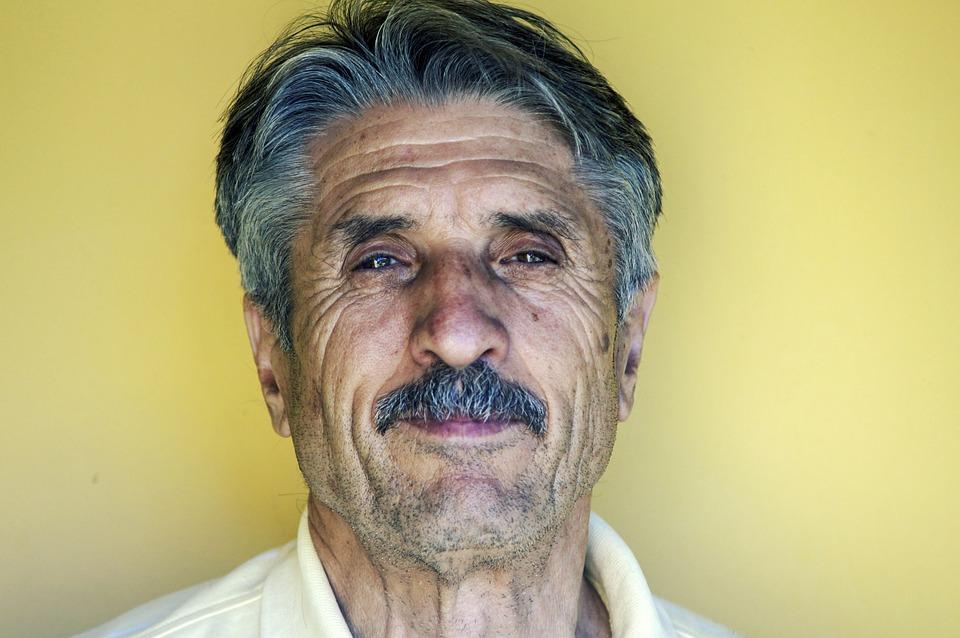 Elderly, Face, Hair, Man, Mustache, Person, Portrait
