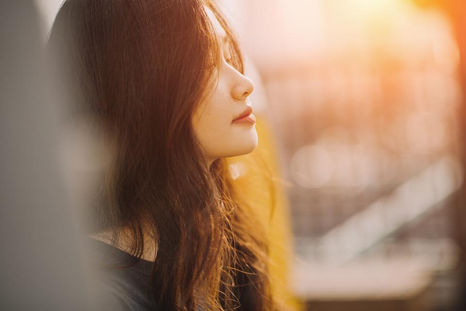 Hair, Wind, Girl, Face, Portrait, Alone, Cute, Sunny