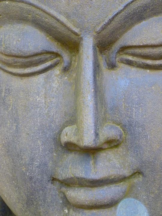 Face, Stone, Head, Sculpture, Asia