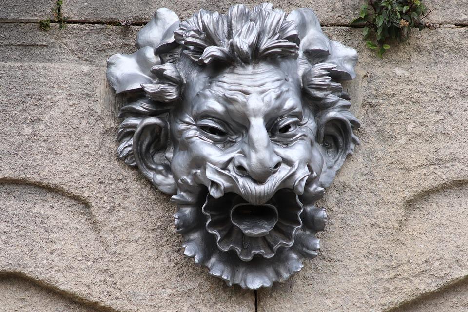 Mask, Sculpture, Head, Face, Figure, Antique, Carved