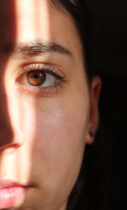 Eye, Shadow, Light, Face, Woman, Girl, Nose, Mouth