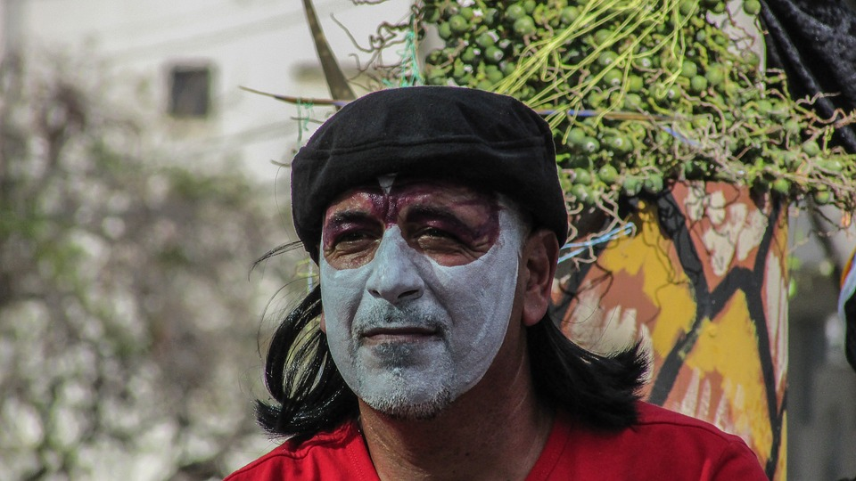 Carnival, Man, Painted, Face