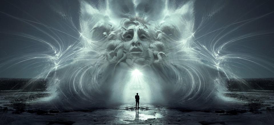Fantasy, Portal, Light, Face, Human, Shining, Portrait