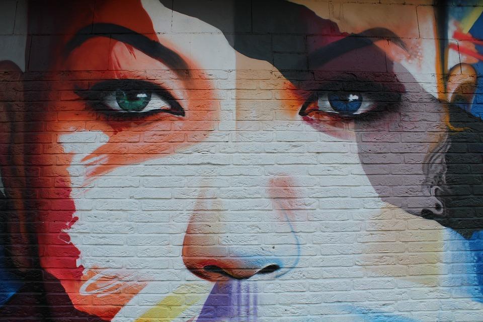 Woman, Graffitti, Sprayer, Artwork, Street Art, Face