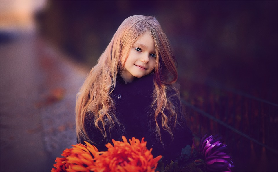 Child, Girl, Pretty, Face, Hairstyle, Sweet, Human
