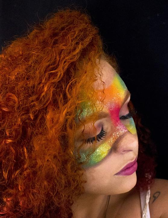 Portrait, People, Makeup, Woman, Face, Fun