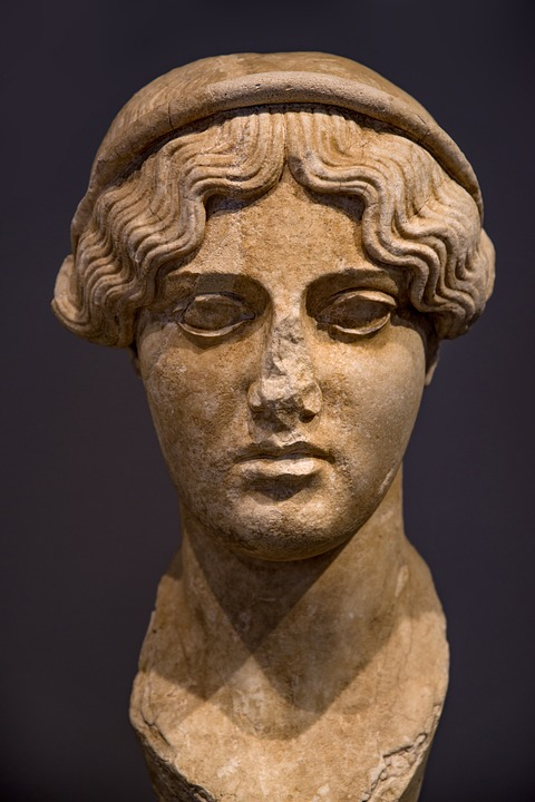 Statue, Sculpture, Stone, Face, Woman, Young, Goddess