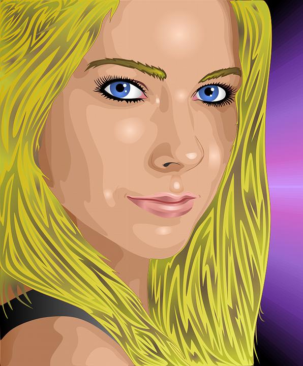 Portrait, Women, Blonde, Face